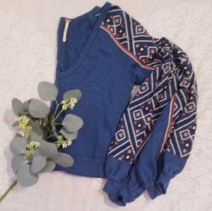 Beautiful Free People Embroidered Sweatshirt XS